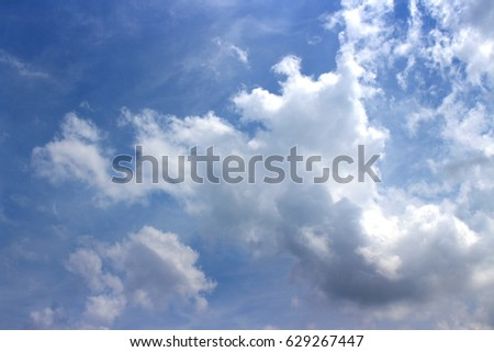 white cloud & blue sky