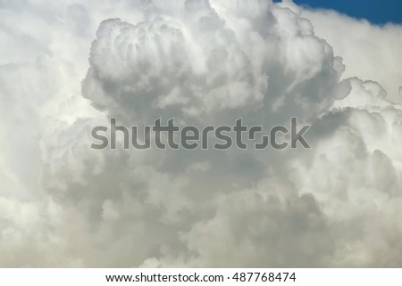 White cloud close up in sky for background