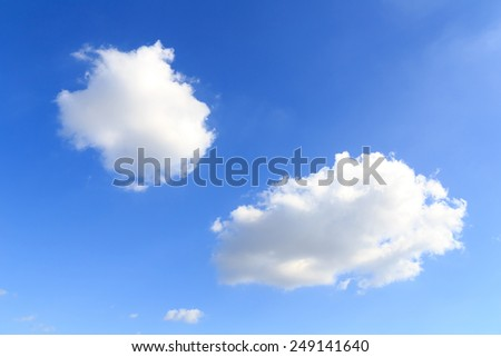 White cloud in the blue sky. - stock photo