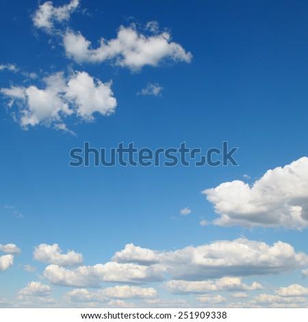 white cloud on blue sky - stock photo