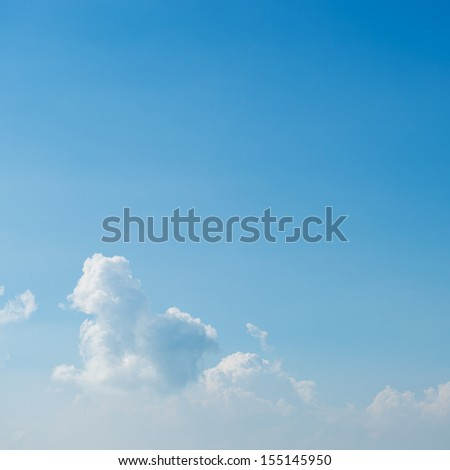 white clouds against blue sky for background. - stock photo
