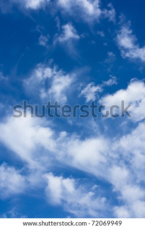 White clouds and a blue sky - stock photo
