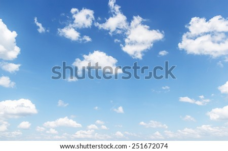 white clouds and blue sky  - stock photo