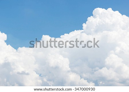 White clouds and blue sky background - stock photo