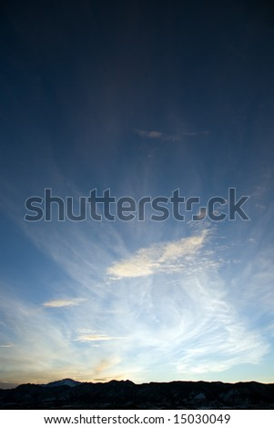 White Clouds at Sunset - stock photo