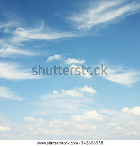 White clouds background - stock photo