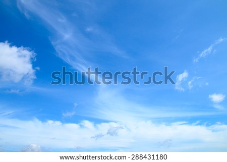 White clouds in a blue sky. Sky background