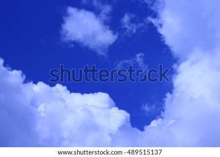 white clouds in blue sky abstract background.