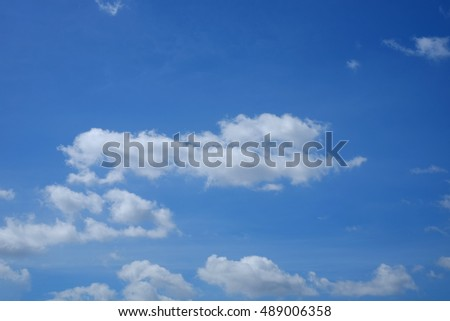 White clouds in blue sky. Sky background.