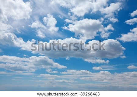 White clouds in the sky - stock photo