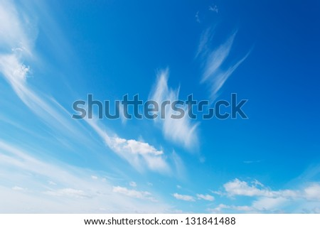 white clouds on a spring day - stock photo