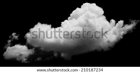 white clouds over blue sky. Design elements  - stock photo