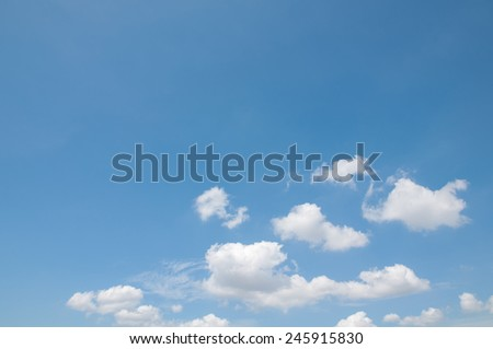 white clouds with blue sky - stock photo