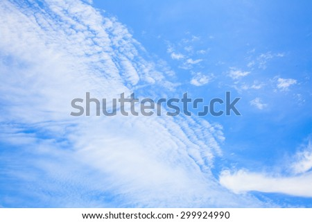 White clouds with blue sky backgrounds - stock photo