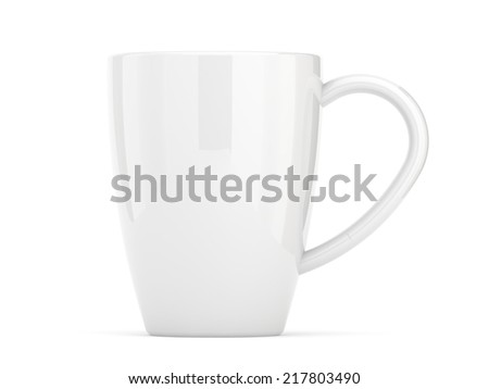 white coffee cup - stock photo