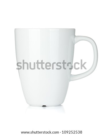 White coffee cup. Isolated on white background - stock photo