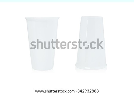 White coffee cup on isolated background. - stock photo
