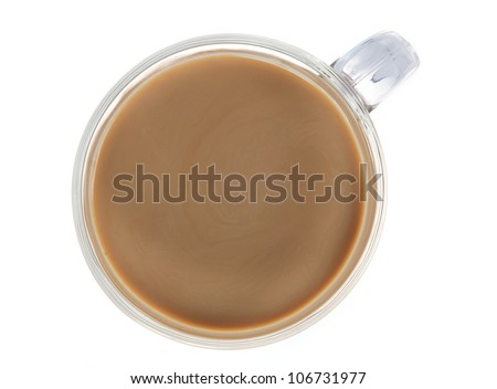 White coffee isolated on white