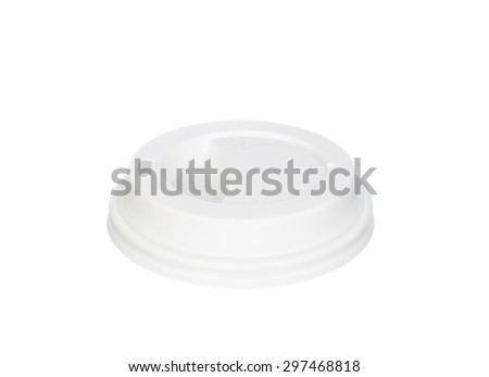 White coffee lid isolated on white background