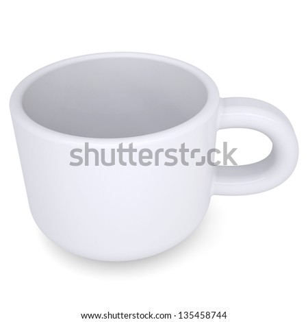 White coffee mug. Isolated render on a white background