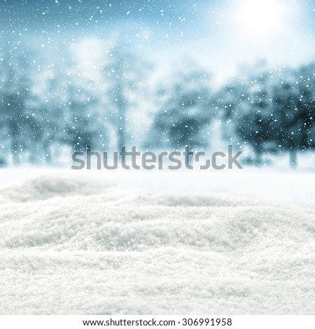 white cold snow  - stock photo