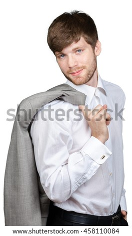 white collar, office worker - stock photo