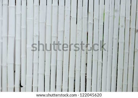 White Color bamboo fence