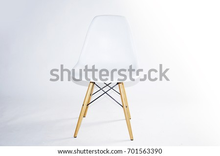White Color Chair Modern Designer For Interior Or Graphic Background Plastic Cut