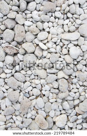 white color round stone background - stock photo