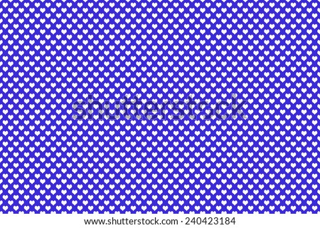 White Colored Heart Shape with blue background - stock photo