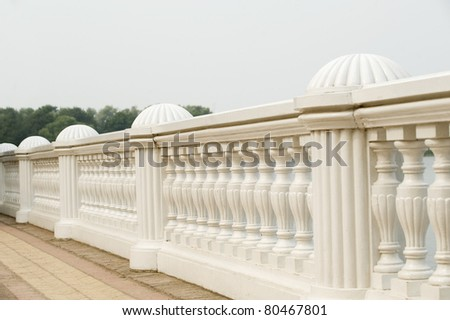 White column in Petergof (Peterhof), st. Petersburg, Russia