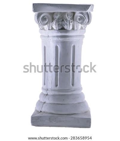 White Column Isolated - stock photo