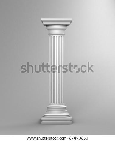 White Column Studio Background - stock photo