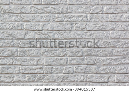 White concrete brick wall pattern texture for background.