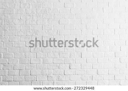 White concrete brick wall textures background - stock photo