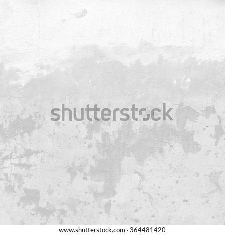 white concrete wall texture background peeling paint scratches - stock photo