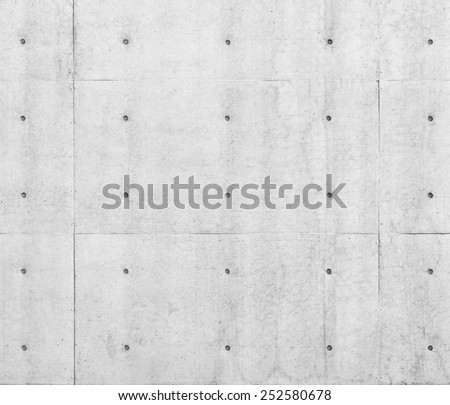 White concrete wall with dot pattern, Architecture details Abstract - stock photo
