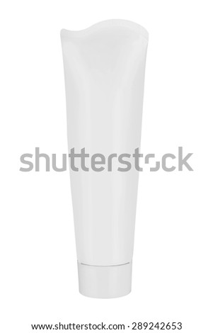White container isolated on white background