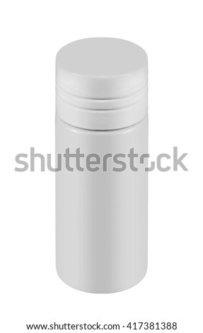 White container of spray bottle isolated - stock photo