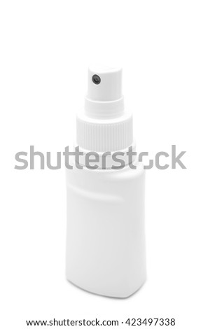 White container of spray bottle isolated on white background - stock photo
