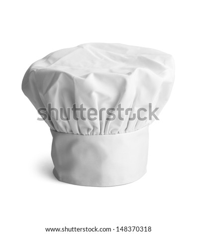 White cooks cap isolated on white background. - stock photo