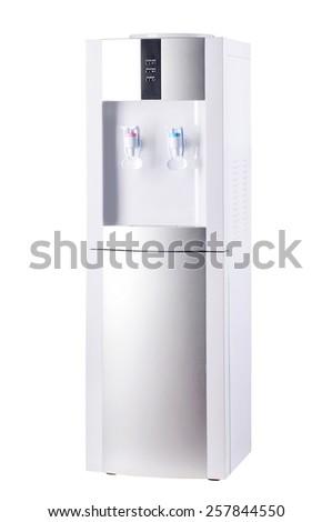 White cooler isolated on white background. - stock photo