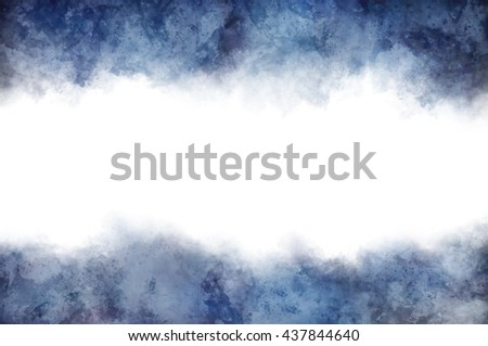 White copy space surrounded by dark clouds at top and bottom for concept about depression or something unknown - stock photo