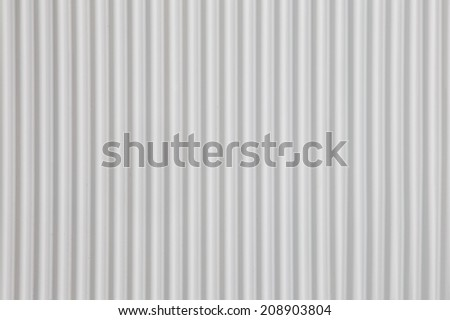white Corrugated metal texture surface or galvanize steel background  - stock photo
