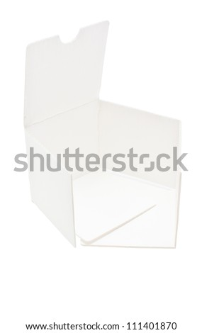 White corrugated of cosmetic product's pad isolated on white background.