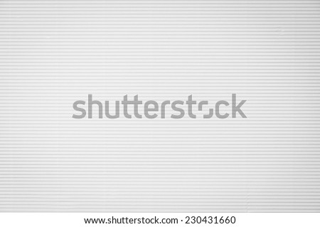 White corrugated paperboard texture background - stock photo