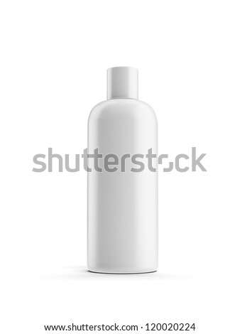 White cosmetic container - stock photo
