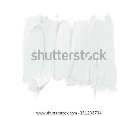 white cosmetic cream background - stock photo