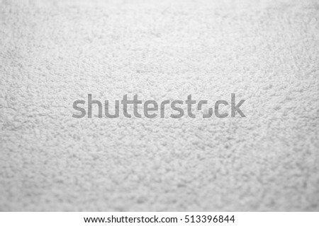 White cotton towel texture, cotton fibers of bath towel background