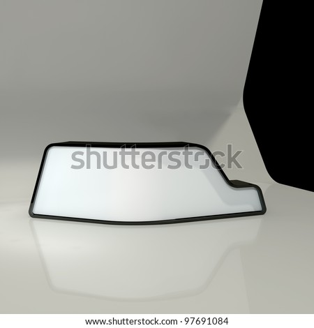 white counter - stock photo